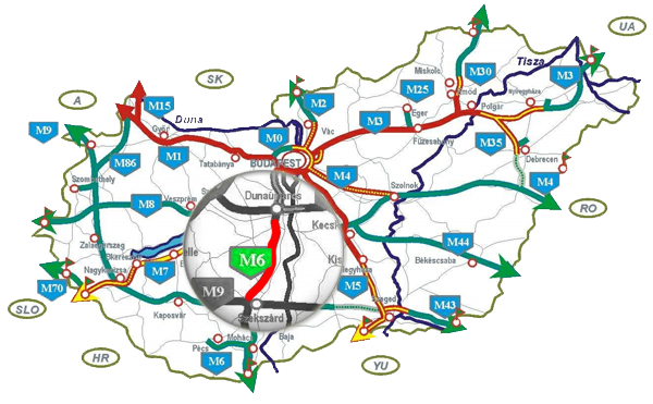 magyarország térkép autópályákkal M6 Tolna Autópálya rólunk magyarország térkép autópályákkal